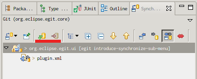 EGit SynchronizeView Push and Pull Toolbat Actions